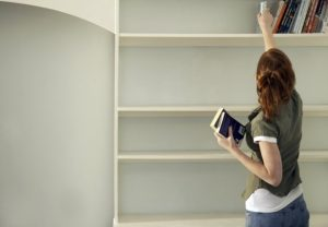 Blissfully Organised; decluttering books; book decluttering