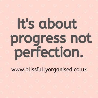 It's About Progress Not Perfection
