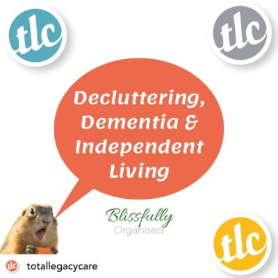 Later Life Planning: Decluttering to Create an Organised Home For Independent Living