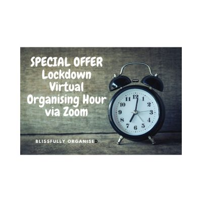 Special Offer – Lockdown Virtual Organising Hour Sessions