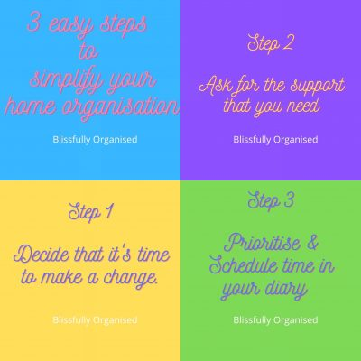3 Easy Steps To Simplify Your Home Organisation
